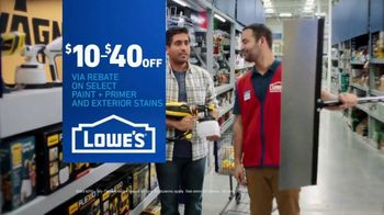 Lowe's TV Spot, 'Game-Changer: Paint, Primer and Exterior Stains' - Thumbnail 10