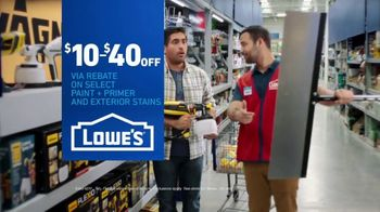 Lowe's TV Spot, 'Game-Changer: Paint, Primer and Exterior Stains' - Thumbnail 9