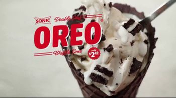 Sonic Drive-In Double Stuff Oreo Waffle Cone TV Spot, 'Overload'