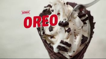 Sonic Drive-In Double Stuff Oreo Waffle Cone TV Spot, 'Overload' - Thumbnail 1