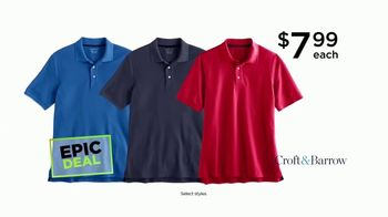 Kohl's Not Our Everyday Sale TV Spot, 'Epic Deals: Polos and Luggage' - Thumbnail 3