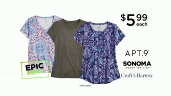 Kohl's Not Our Everyday Sale TV Spot, 'Epic Deals: Tops and Thermals' - Thumbnail 4