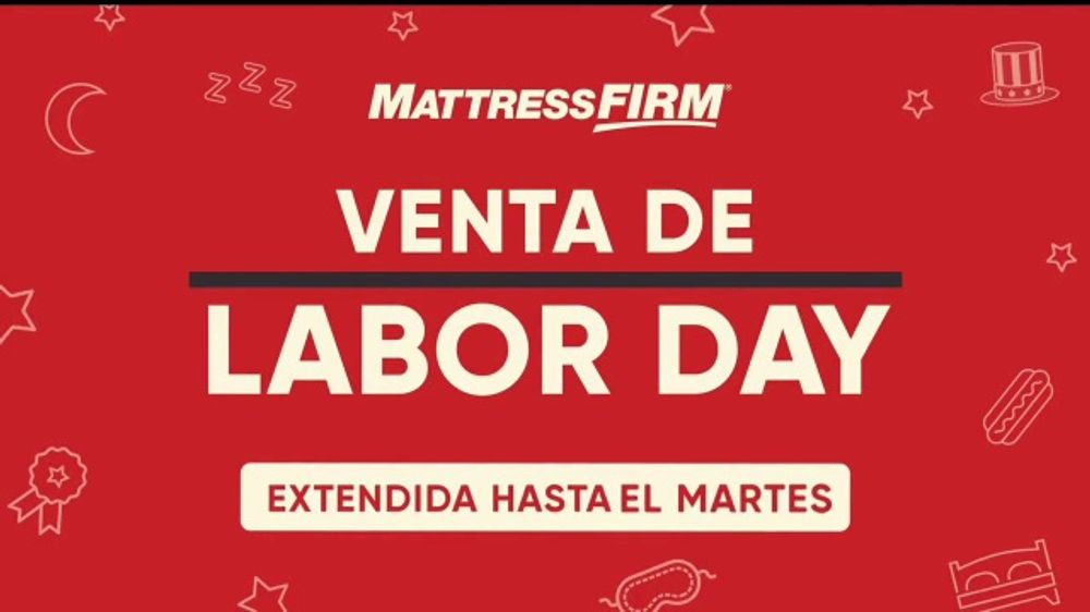 Mattress Firm Venta De Labor Day Tv Commercial Extendido Ispot Tv