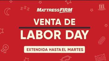 Mattress Firm Venta de Labor Day TV Spot, 'Extendido' [Spanish]