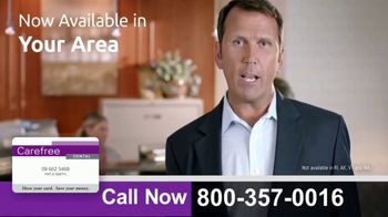 Carefree Dental Plan Card TV Spot, 'Instantly Pay a Lot Less at the Dentist'