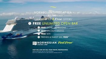 Norwegian Cruise Line Free at Sea TV Spot, 'Out Here You're Free: Five Offers' Song by Pitbull - Thumbnail 8