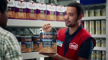 Lowe's TV Spot, 'Game Changer: Valspar Paints and Stains' - Thumbnail 2