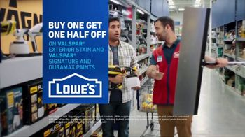 Lowe's TV Spot, 'Game Changer: Valspar Paints and Stains' - Thumbnail 9