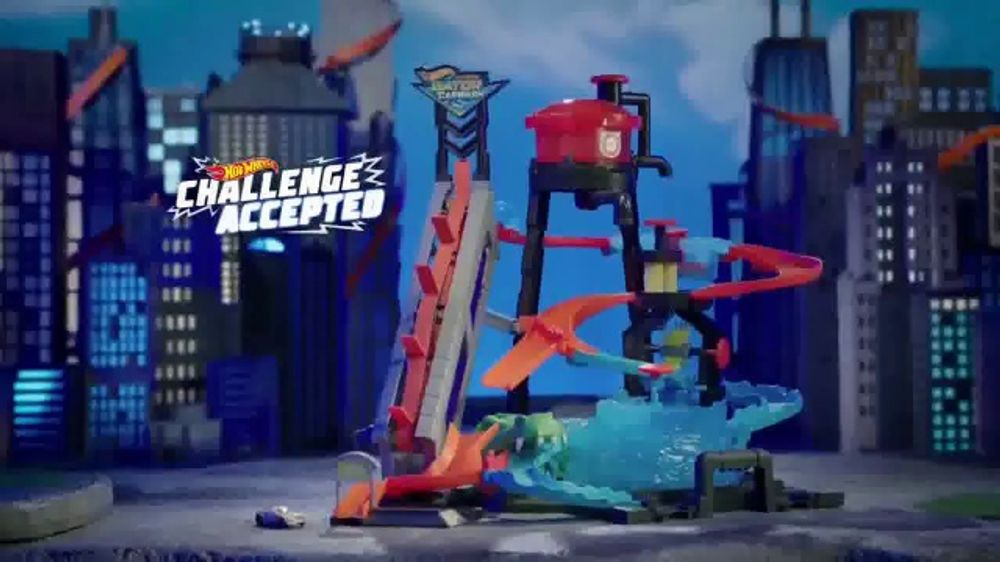 Hot Wheels Ultimate Gator Carwash Tv Commercial Challenge Accepted