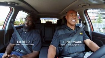 Hyundai Santa Fe TV Spot, 'Hines Ward and Ed Reed Go for a Ride: Cover 2' [T1] - 1 commercial airings