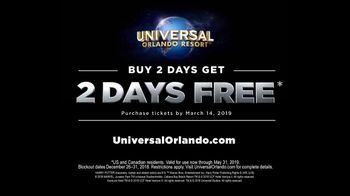 Universal Orlando Resort TV Spot, 'One Thing to Say: Two Days Free' - Thumbnail 9