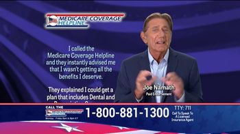 Medicare Coverage Helpline TV Spot, 'New Benefits' Featuring Joe Namath - Thumbnail 4