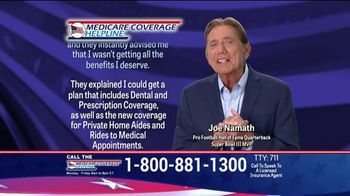 Medicare Coverage Helpline TV Spot, \'New Benefits\' Featuring Joe Namath
