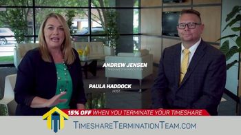 Timeshare Termination Team TV Spot, 'End of the Year: 15% Off'