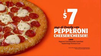 Little Caesars Pepperoni Cheeser! Cheeser! TV Spot, 'Tastes Like a Million Bucks' - Thumbnail 9