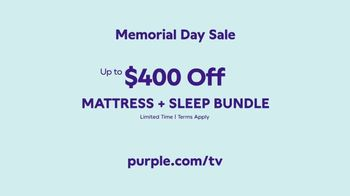 Purple Mattress Memorial Day Sale TV Spot, 'Mattress and Sleep Bundle' - Thumbnail 9