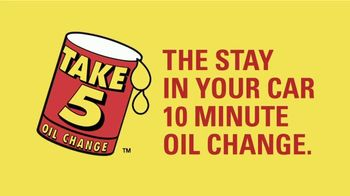 Take 5 Oil Change TV Spot, \'Stay in Your Car Oil Change\'