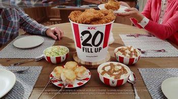 KFC $20 Fill Ups TV Spot, 'Entrega gratis: entrega sin contacto' [Spanish]