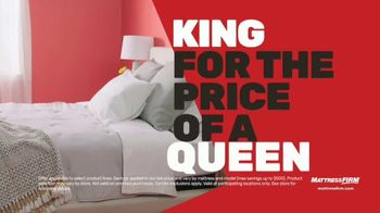 Mattress Firm Memorial Day Sale TV Spot, 'King for a Queen & Free Adjustable Base' - Thumbnail 3