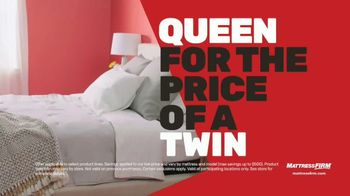 Mattress Firm Memorial Day Sale TV Spot, 'King for a Queen, Free Adjustable Base & 50% Off' - Thumbnail 4