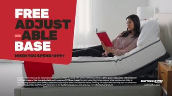 Mattress Firm Memorial Day Sale TV Spot, 'King for a Queen, Free Adjustable Base & 50% Off' - Thumbnail 5
