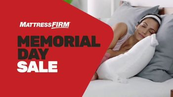 Mattress Firm Memorial Day Sale TV Spot, 'King for a Queen, Free Adjustable Base & 50 Percent Off'