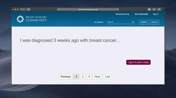 Breastcancer.org TV Spot, 'In Uncertain Times' - Thumbnail 1