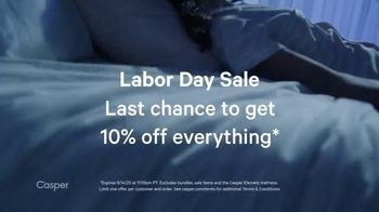 Casper Labor Day Sale TV Spot, 'Cool and Supported: 10%'