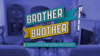 Wayfair TV Spot, 'Brother vs. Brother: Bigger Living Room' - Thumbnail 1