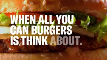Postmates TV Spot, 'When All You Can Burgers Is Think About'