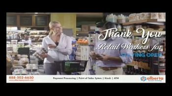 Alberta Payments TV Spot, 'Thank You Retail Workers' - Thumbnail 1