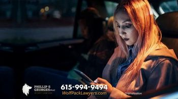 Phillip S. Georges, PLLC TV Spot, 'Wolf Pack: Ride Share Accident' - Thumbnail 3