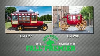 Mecum Gone Farmin' 2020 Fall Premier TV Spot, '1929 Popcorn Truck and 1902 Wells Fargo Carriage'