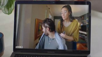 AT&T Fiber TV Spot, 'Working From Home: More Bandwidth: Haircut Tutorial' - Thumbnail 4