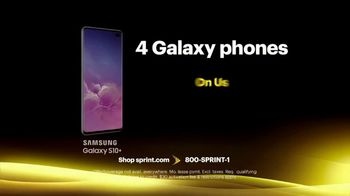 Sprint Best Unlimited Deal TV Spot, 'Samsung Galaxy S10+: Four Lines for $100' - Thumbnail 5