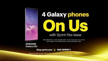Sprint Best Unlimited Deal TV Spot, 'Samsung Galaxy S10+: Four Lines for $100' - Thumbnail 6