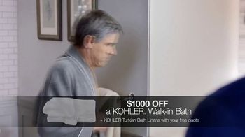 Kohler Walk-In Bath TV Spot, 'Independence: $1,000 Off and Free Turkish Bath Linens'