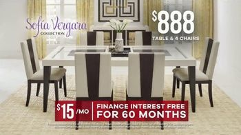 Rooms to Go Memorial Day Sale TV Spot, 'Sofia Vergara Collection Dining Sets: $888' - Thumbnail 8