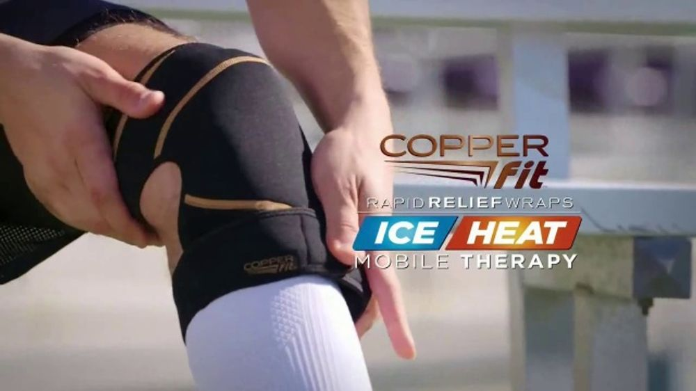 Copper Fit Rapid Relief Knee Wraps TV Commercial, 'The Best Solution'
