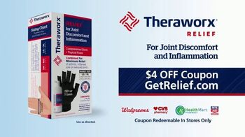 Theraworx Relief Joint Discomfort and Inflammation TV Spot, 'Medical-Grade Compression: $4 Coupon' - Thumbnail 7