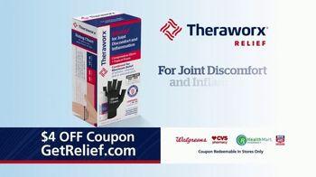 Theraworx Relief Joint Discomfort and Inflammation TV Spot, 'Medical-Grade Compression: $4 Coupon' - Thumbnail 2