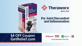 Theraworx Relief Joint Discomfort and Inflammation TV Spot, 'Medical-Grade Compression: $4 Coupon' - Thumbnail 3