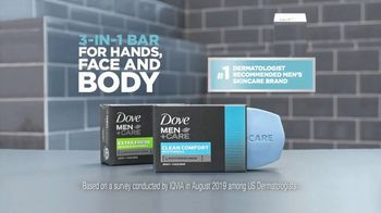 Dove Men+Care Body and Face Bar TV Spot, 'Comfortable and Smooth' - Thumbnail 10