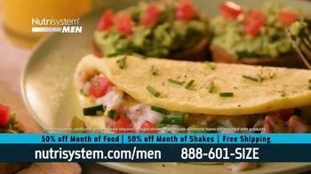Nutrisystem for Men 50/50 Deal TV Spot, 'Eat Real Food'