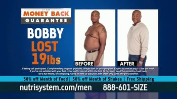Nutrisystem for Men 50/50 Deal TV Spot, \'Eat Real Food\'