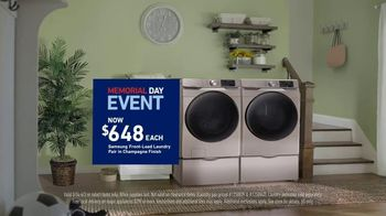 Lowe's Memorial Day Event TV Spot, 'Samsung Laundry Pair' - Thumbnail 7