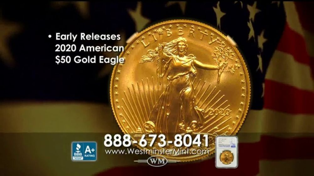 Westminster Mint TV Commercial, 'Early Release 2020 American $50 Gold Eagle'