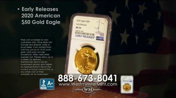 Westminster Mint TV Spot, 'Early Release 2020 American $50 Gold Eagle' - Thumbnail 9