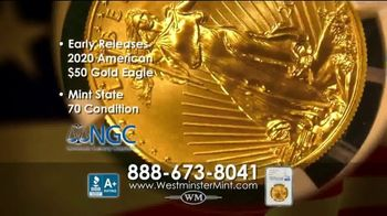 Westminster Mint TV Spot, 'Early Release 2020 American $50 Gold Eagle' - Thumbnail 5