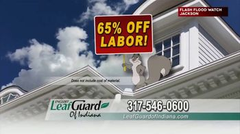 LeafGuard of Indiana TV Spot, 'Big Rain: 65 Percent Off Labor' - Thumbnail 5